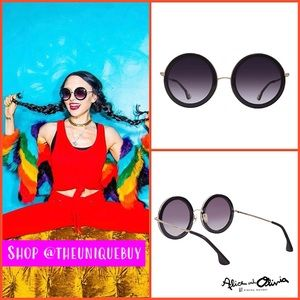 🏷 🆕 Round Black Boho Sunglasses | Alice + Olivia